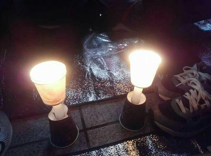 김천역 광장을 평화로 물들이는 촛불