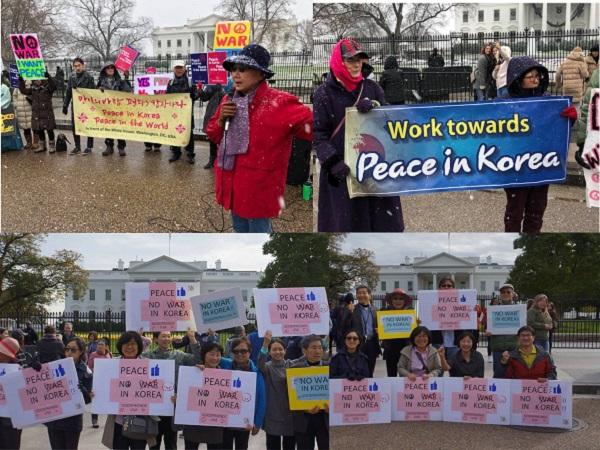 백악관 앞 평화집회