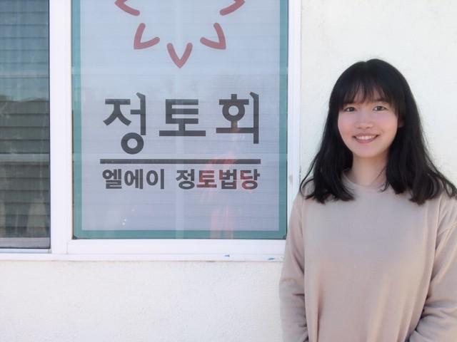 LA정토법당에서 김영빈 님.