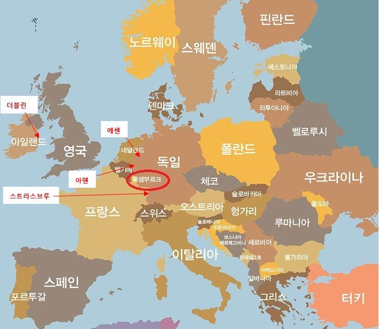 유럽 지도