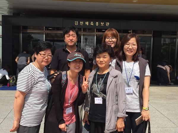 왼쪽부터 이영아, 강미희, 김규리, 이현승, 유제은님