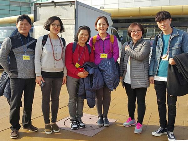 예비 입재자들입니다. 왼쪽부터 김진희, 김문희, 김혜영, 김윤미, 문정은, 손영웅 님.