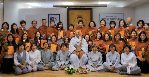 뉴욕, 뉴저지, 맨하튼법당의 불교대학 졸업생들입니다.