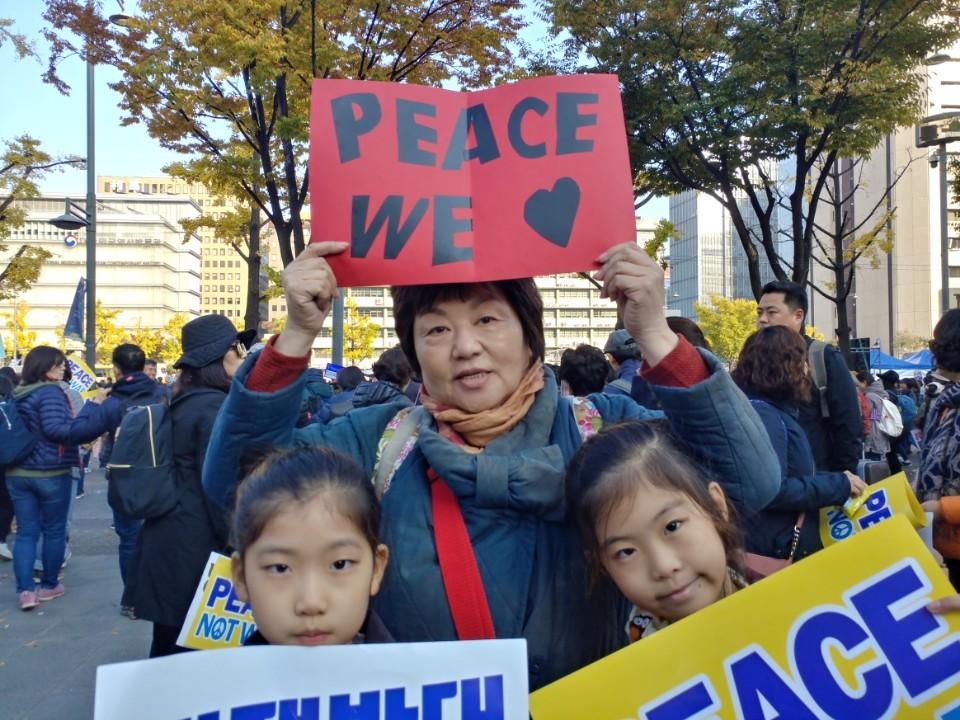 손녀와 함께 평화를 외치다!