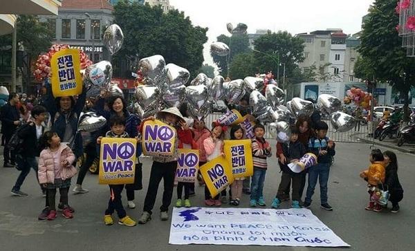 아이들이 제대로 한몫한 하노이 평화 통일 집회