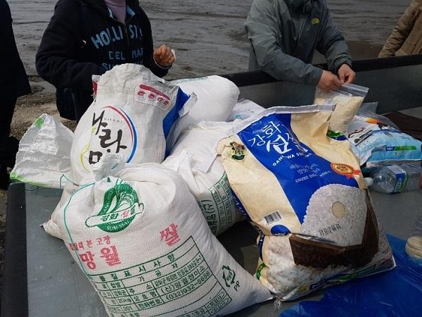 십시일반의 마음으로 모은 쌀
