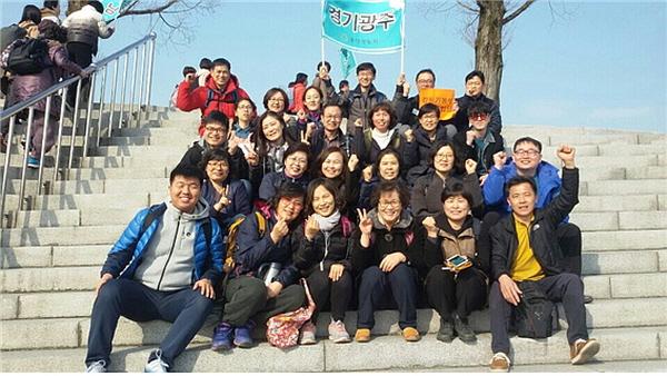 입재식 참석을 위해 김천에 도착한 경기광주법당 도반들!
