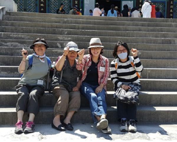 지난 6월 2일 죽림정사 사찰순례에 참가하신 (왼쪽부터) 권영남, 김분남, 김미숙, 권경자 님