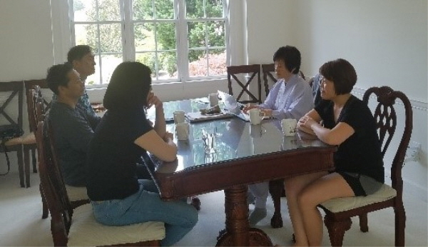 2018년 4월 선주법사님과 애틀랜타 불교대학생 간담회