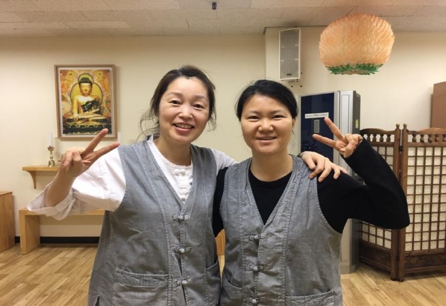 허서현 님(오른쪽)과 민혜숙 님(왼쪽)