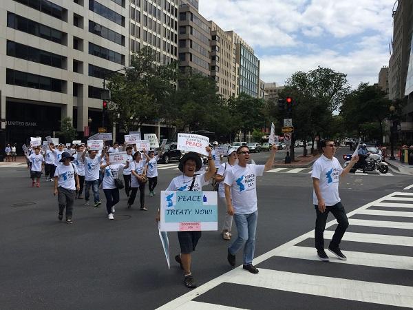 연합 감리교 주최 한반도 평화행진(2018년 워싱턴 디시)