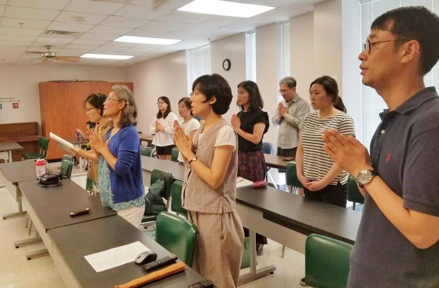 2017.07.23. 휴스턴 한인회관에서의 첫 수행법회 모습
