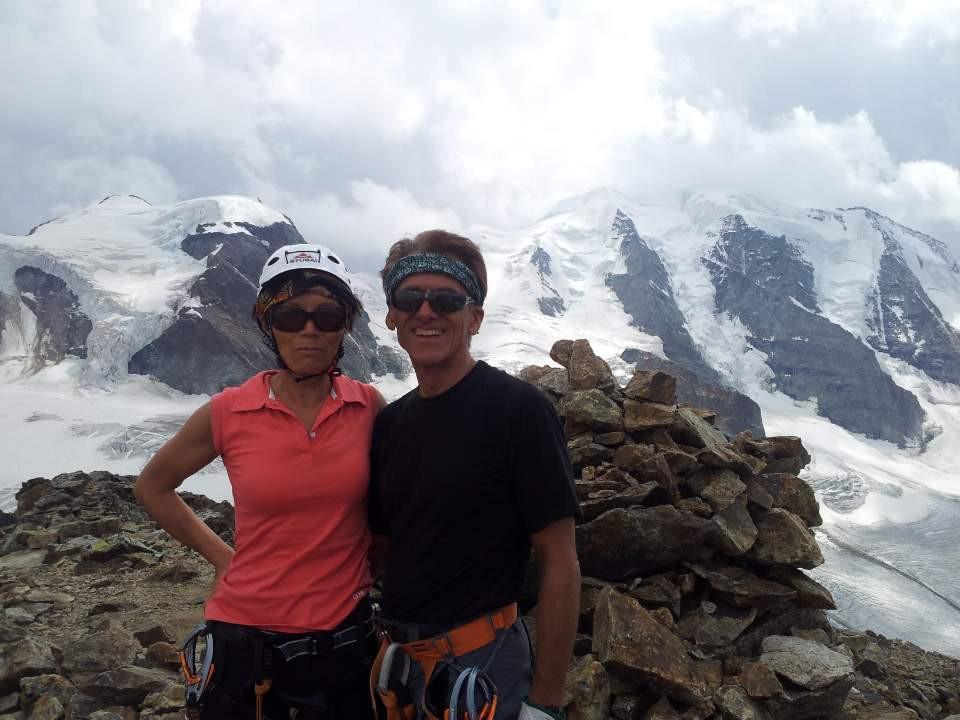 해발 4000미터 알프스 고지 베르니나에 올라서