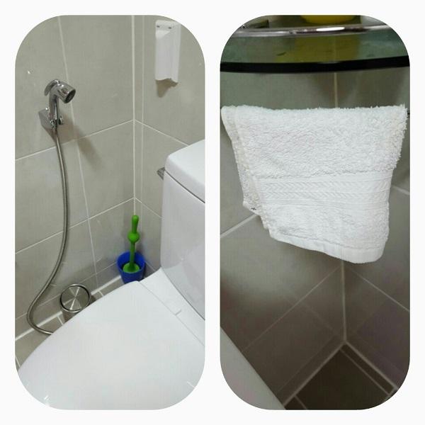 김정숙 님 뒷물 수건과 뒷물용 샤워기 사진