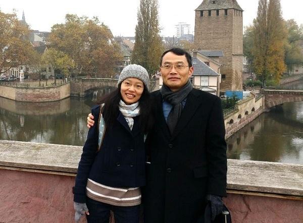 <깨달음의장>의 선배인 딸과 스트라스부르에서 행복한 순간