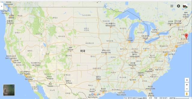 노란색 별표는 북미지역 강연한 장소