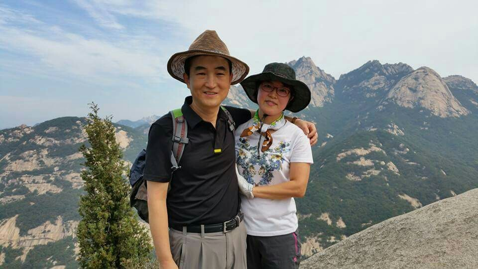 아내와 함께 북한산에서