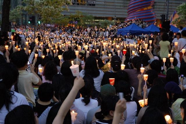 자료사진 : 촛불집회